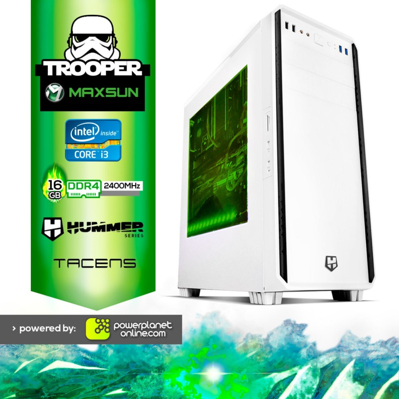 PC Gaming Intel I3 8100/16GB/120GB/GTX1050TI 4GB Trooper
