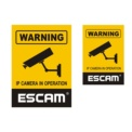 Autocolante WARNING ESCAM
