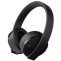Playstation Gold Wireless Headset - Auriculares Gaming - Color Negro - Conexión Inalámbrica - Conector 3.5 mm - Compatible con PlayStation 4, Pro, PC y Mac - Drivers 40 mm - Sonido Envolvente 7.1 - Compatible con RV