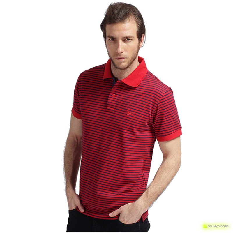 Polo Stripe Vermelho - Homen