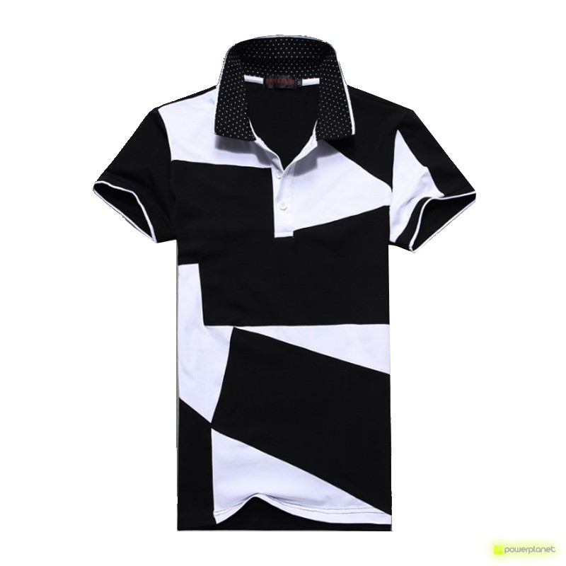 Polo Step Design Negro - Hombre