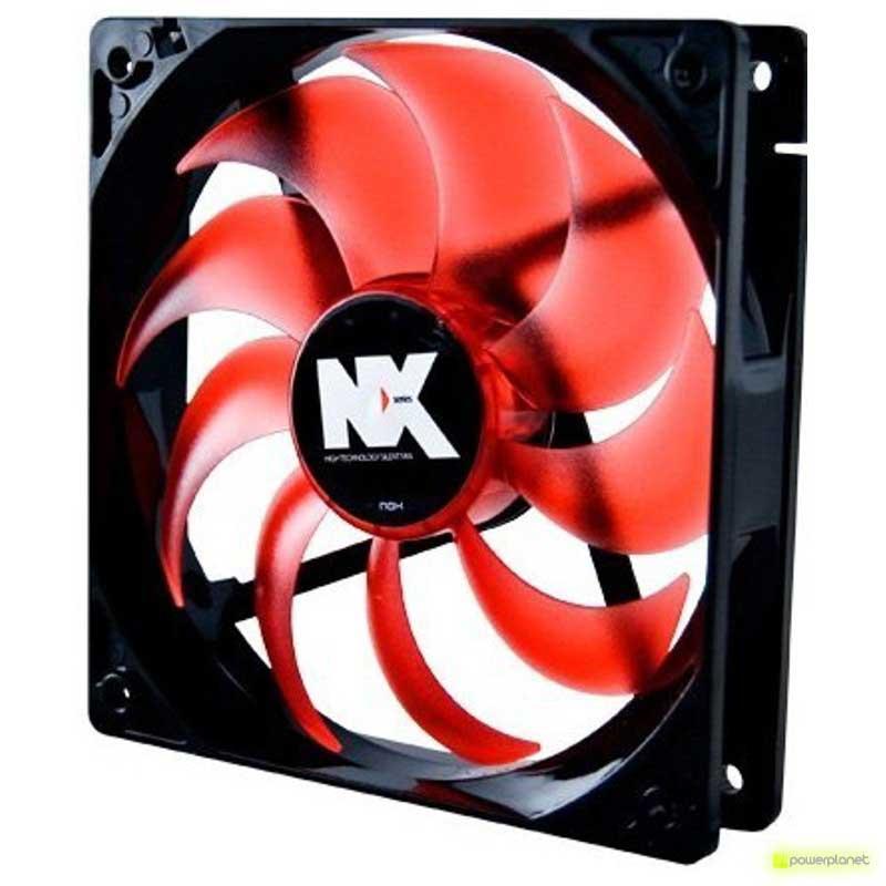 Ventilador caja NOX Serie NX 12cm Rojo