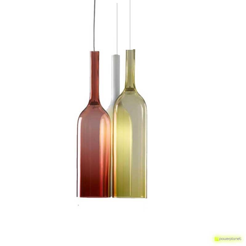 Lámpara Colgante Tipo Botella con Colores