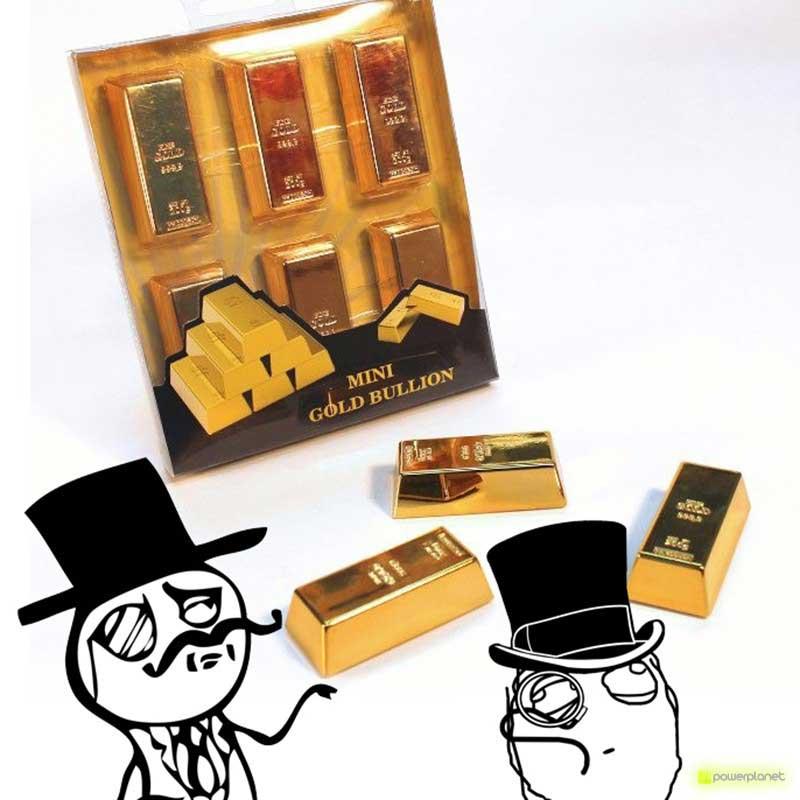 Mini gold bullion magnet