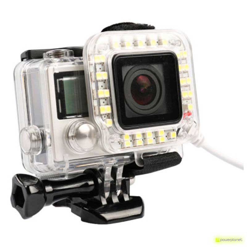 Lente com Luz GoPro Hero 3 +/ Gopro Hero 4