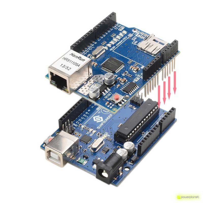 Ethernet Module Shield W5100 With Micro Sd Slot For Arduino
