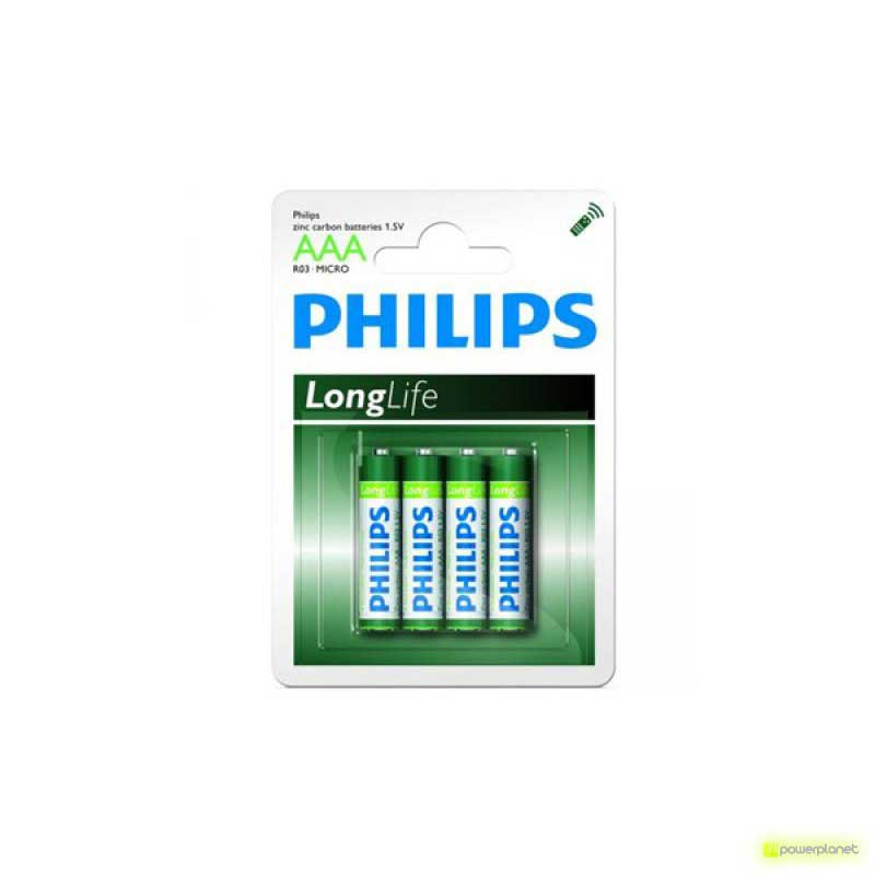 Pilas Alcalinas Philips LongLife AAA R03
