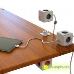 PowerCube Extended USB 4 tomas + 2 puertos USB + Cable 1.5m - Ítem2