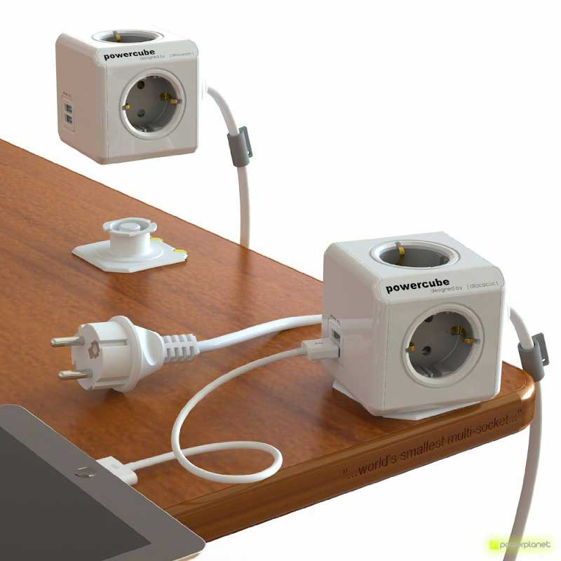 PowerCube Extended USB 4 tomas + 2 puertos USB + Cable 3m