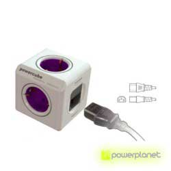 PowerCube ReWirable 4 tomas + 2 puertos USB + 4 adaptadores de corriente - Ítem1