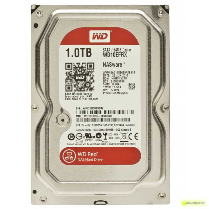 Disco Duro WD Red 1TB SATA3 NAS 3,5