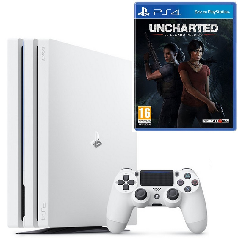 PlayStation 4 Pro 1TB Blanca (PS4) + Uncharted el Legado Perdido