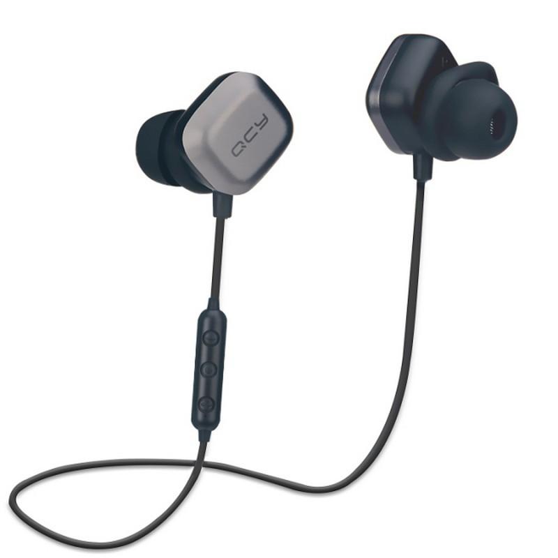 QCY M1 Pro - Color Negro y Gris - AptX - ChipCSR8645 - Bluetooth 4.1 - Compatibilidad Android, iOS y Windows - Acople Magnético - Resistencia IPX4 al Sudor - Autonomía Máxima de 7 Horas - Carga en 2 Horas - Isleta con Botones de Reproducción - Micrófono