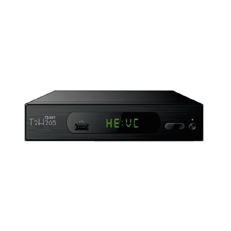 QVIART T2 H.265 - Receptor TDT - Función Grabación/Reproducción, mando a distancia, USB 2.0, display LED, resolución 1080p