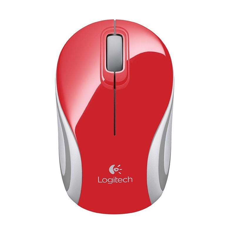 Mouse Wireless Mini Logitech M187 Rojo