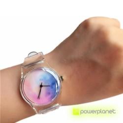 Reloj Transparente Calavera - Ítem1