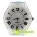 Roman Number Transparent Watch