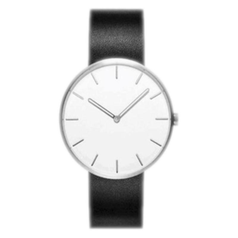 Relógio Xiaomi TwentySeventeen Fashion Quartz Watch 316L Branco / Pulseira Couro Preta