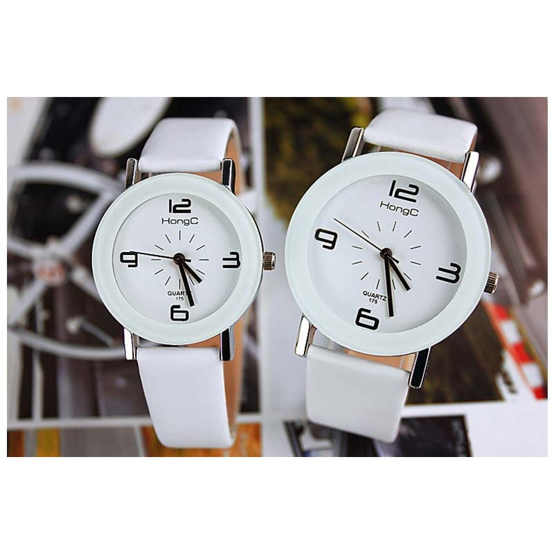 Analogical Clock for Men White Dial Yazole 175