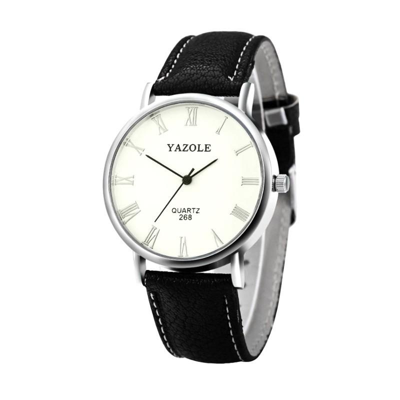 Reloj Analógico de Hombre Esfera Blanca Yazole 268