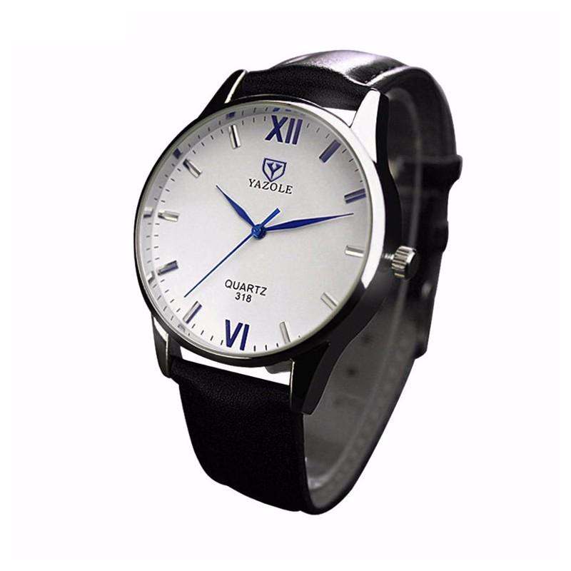 Relógio Analógico de Homem Esfera Branca Yazole 318