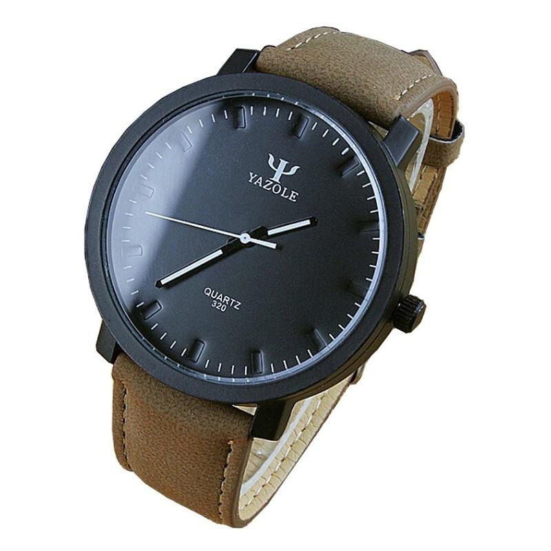 Reloj Analógico de Hombre Esfera Negra Yazole 320