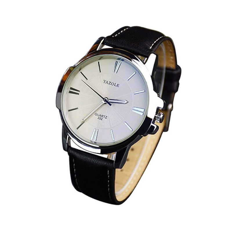 Reloj Analógico de Hombre Esfera Blanca Yazole 332