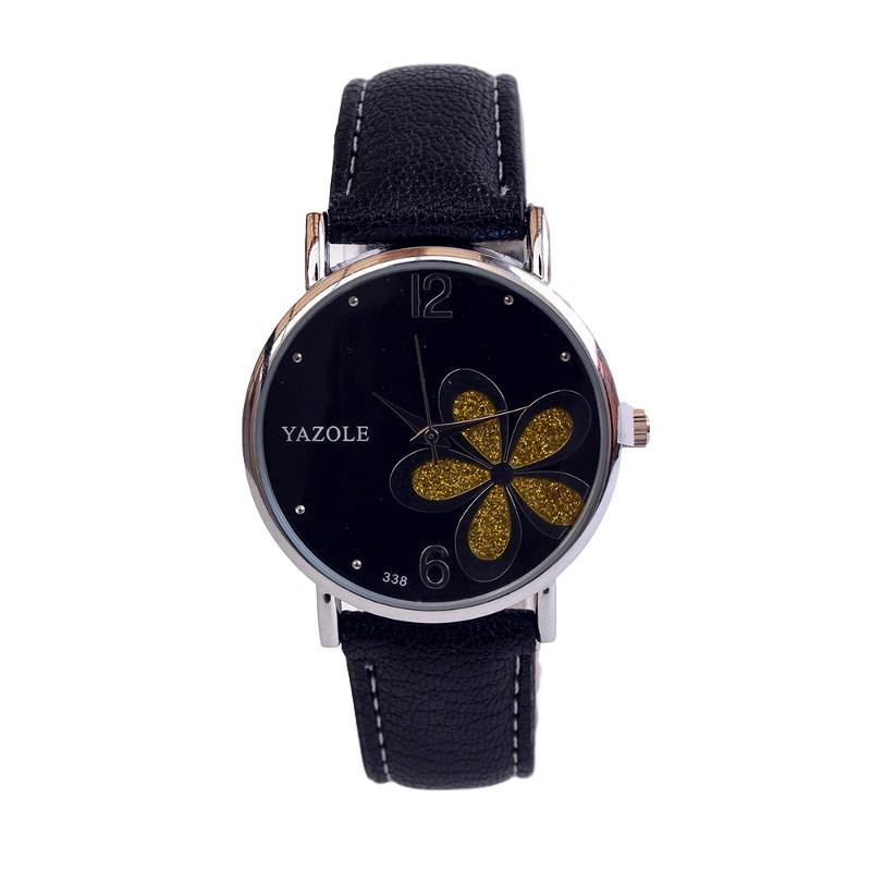 Relógio de Mulher Flower Power Preto