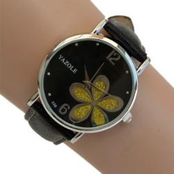 Relógio de Mulher Flower Power Preto - Item1