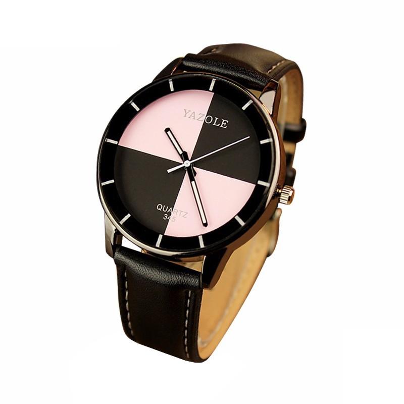 Reloj Analógico de Mujer Rosa Yazole 345