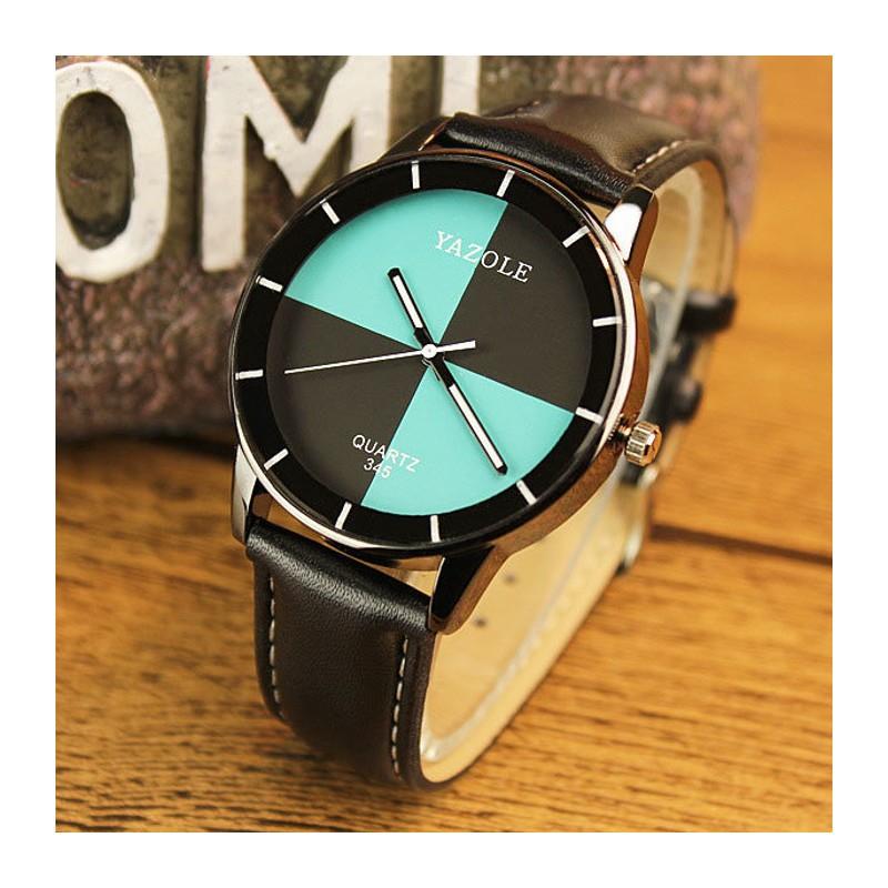 Reloj Analógico de Mujer Azul Yazole 345