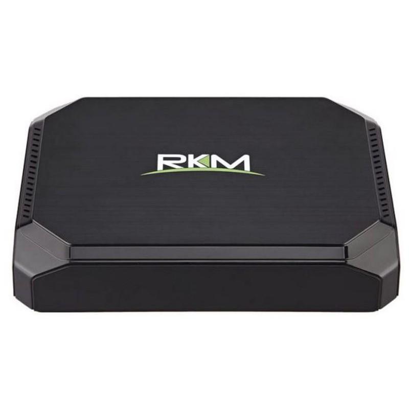 Rikomagic MK36T 2GB/32GB Windows 10 - Mini PC - Interfaz delantera y logo de la marca RKM