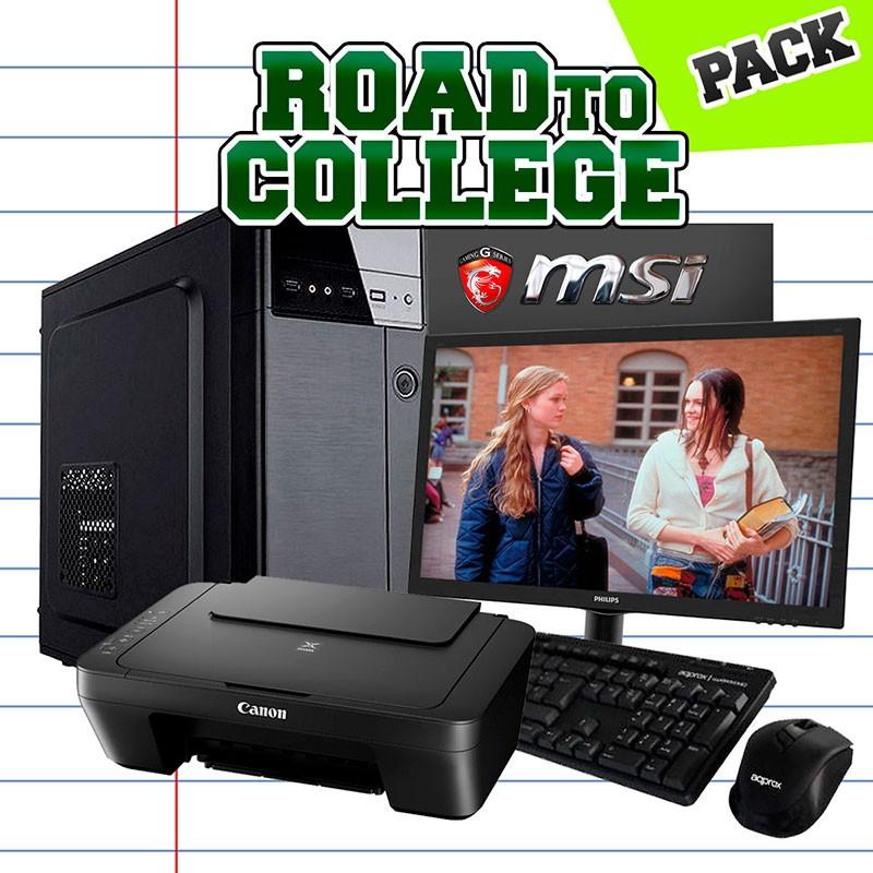 Pack Ordenador Sobremesa.Sobremesa Intel I5 7400 8gb 120 Ssd 1tb Road To College