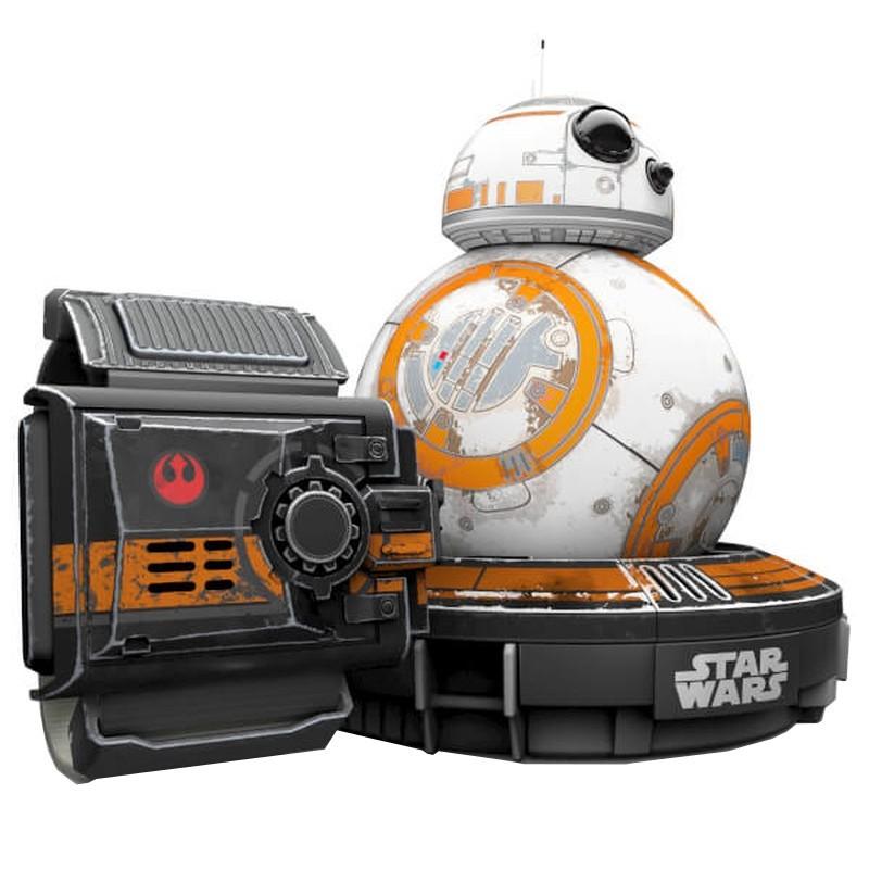 Robot Sphero BB-8 Star Wars Con Pulsera Force Band - Juego Interactivo - Reacciona e Interactúa - Aprende con Nosotros - Giroscopio y Acelerómetro - Conrol por Pulsera - Control por Movimiento - Altavoces y Micrófono - Autonomía 1 Hora - Luces LED
