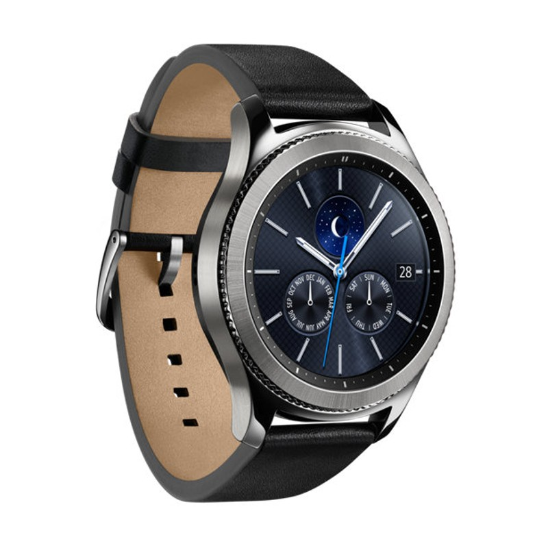 Samsung Gear S3 Classic Plata - Wi-Fi, aplicaciones instalables, sistema operativo Tizen, funcionamiento por giro de bisel, estética tradicional, resistencia IP68, Bluetooth 4.2, reproducción de música, GPS