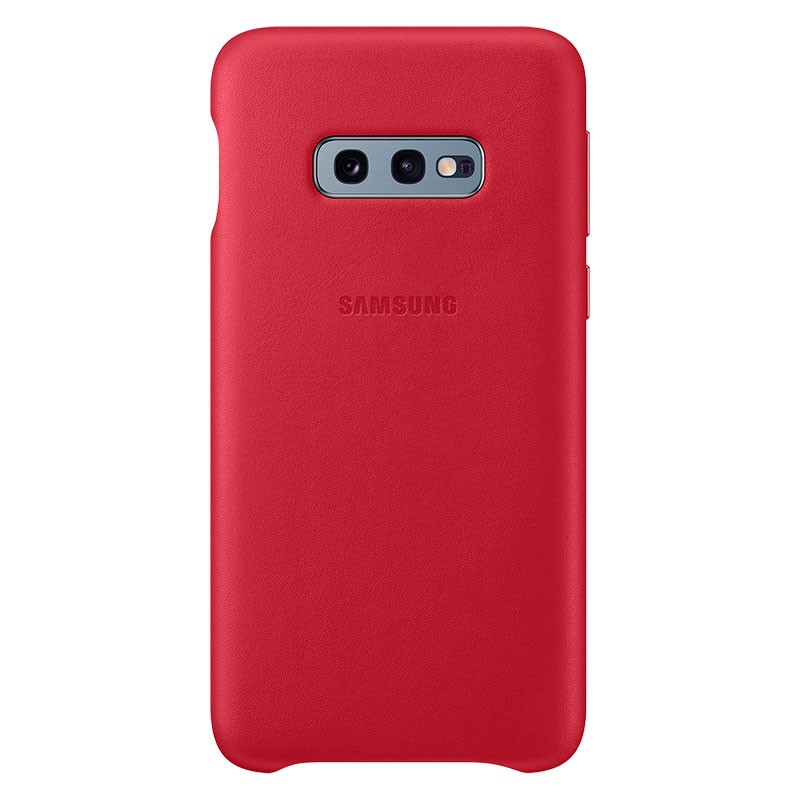 Samsung Leather Cover para Galaxy S10e Rojo