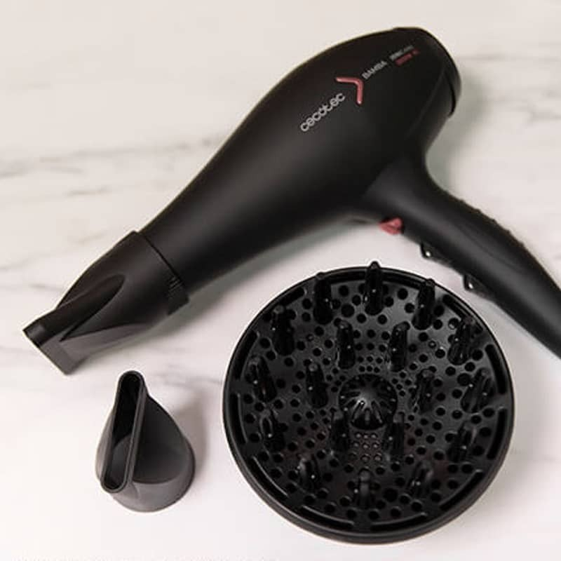 boquilla de precisi/ón y difusor maxivolumen Cecotec Secador de pelo i/ónico Bamba IoniCare 5350 PowerShine Fire ajuste de temperatura y velocidad 2600 W de potencia