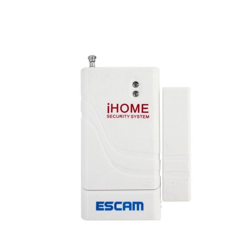 Sensor de Porta ESCAM AS001 - Branco - Sensor Inteligente - Frequência de Transmissão 433,92MHz - Rede de 64 Sensores ESCAM Conectados - Notificação no seu Telemovel - APP - Alimentado por Bateria 23A (12V)