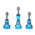 Set CNC Aluminum Screws 1/4 Inch - Color blue