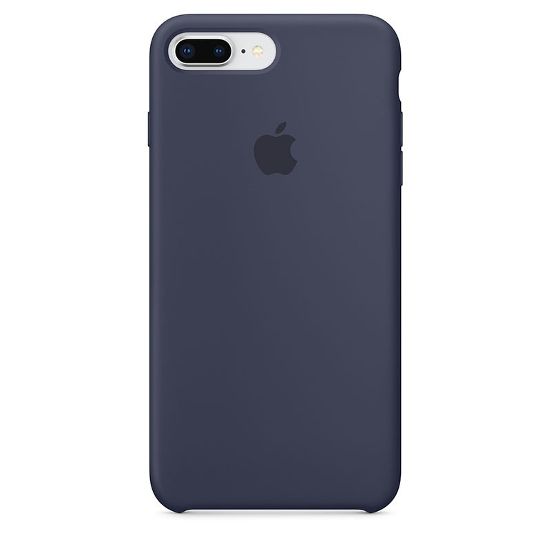 Funda Silicone Case para el iPhone 8 Plus y iPhone 7 Plus en color Azul Noche