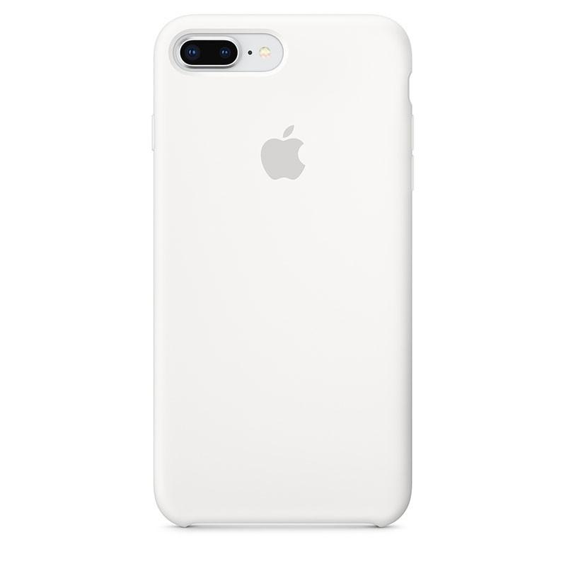 Capa em silicone para iPhone 8 Plus e iPhone 7 Plus em cor Branco