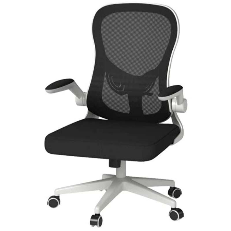 Hbada Hdny163wm White Black Desk Chair, Black Desk Chairs