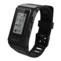 Smartband Leple S909 - cor preta - Resistência à Água IP68 - Submersível - GPS - Bluetooth 4.0 - Modos Esportivos - Frequência Cardíaca - Calorias Queimadas - Máxima Autonomia 9 Dias - Notificações Redes Sociais, Mensagens e Chamadas