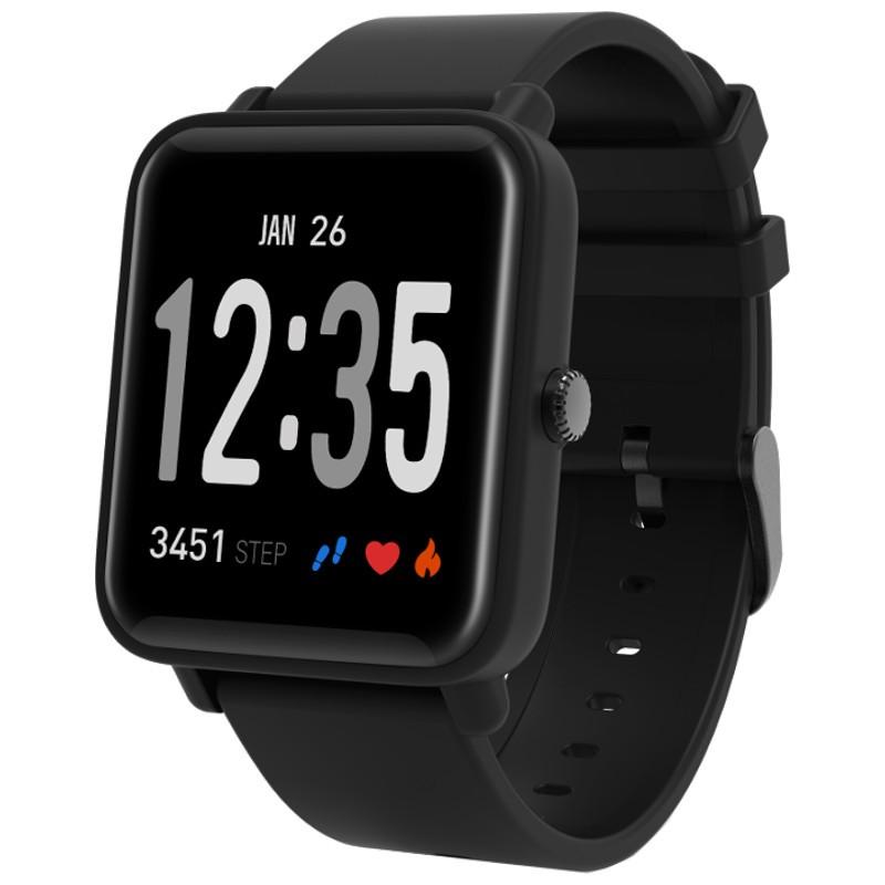 Smartwatch Doric - Color negro - Certificación IP67 - Bluetooth 4.0 - Pantalla IPS Táctil 1.3 Pulgadas - Resolución 240 x 240 - Pulsera Silicona - Frecuencia Cardíaca - Sueño - Distancia - Calorías - Autonomía 7 Días - Cristal 2.5D