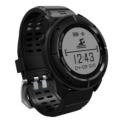 Smartwatch Deportivo Makibes UPG06 - Color negro visto por delante; pantalla esférica