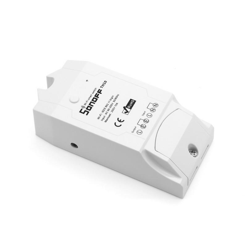 Sonoff TH16 Switch WiFi - Smart Control Temperatura / Humedad - Detalle del switch (destaca por crear un sistema inteligente de productos sonoff conectados que se activan en función de variables de medición de temperatura y humedad)