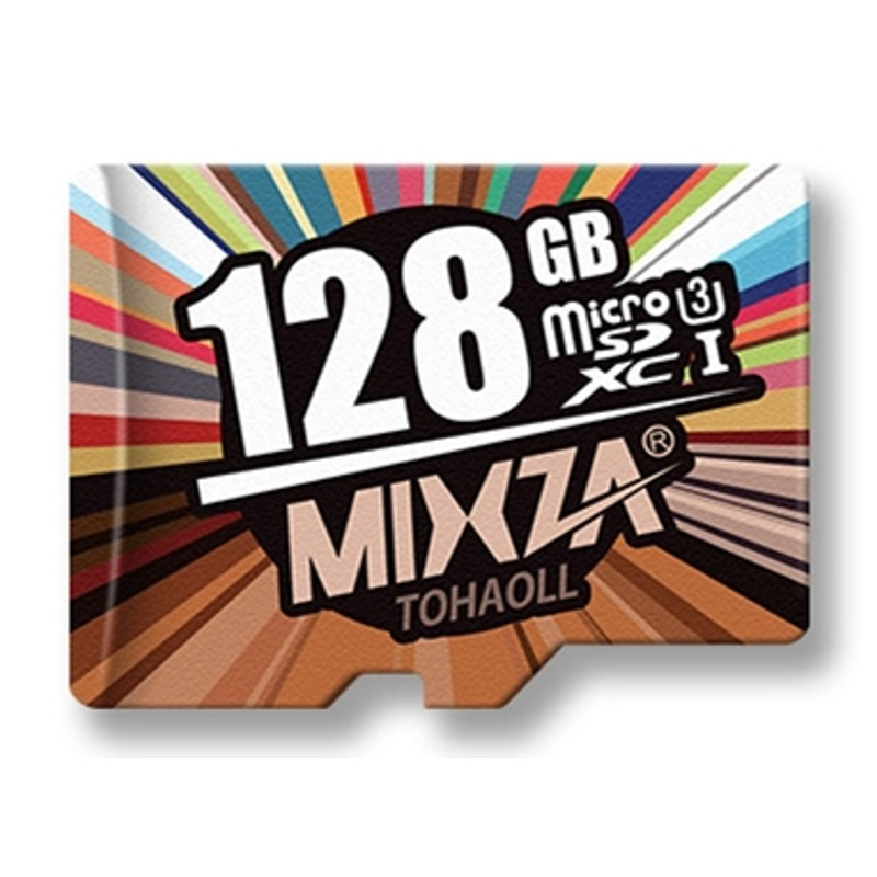 Cartão de memória Mixza 128GB Classe U3 4K
