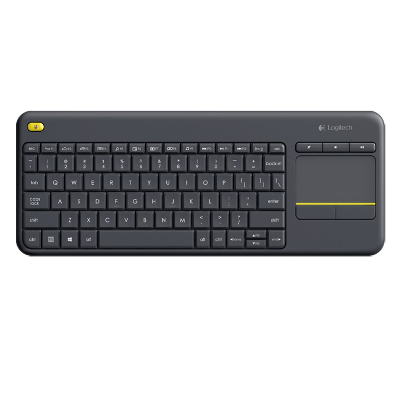 Keyboard Wireless K400 Plus con Touch Keyboard Black