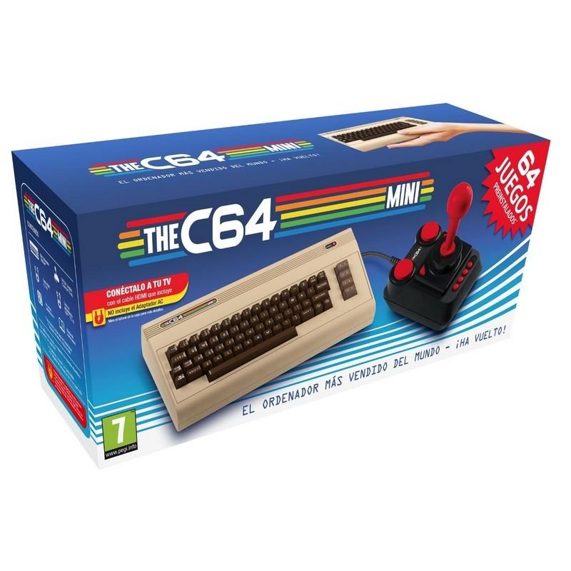 Koch Media O C64 Mini 64 Jogos + Joystick - Recreação Mini do Computador Commodore 64 - 64 Jogos Instalados - 2 x Portas USB - Permite conectar um Segundo Joystick - Teclado com Design Clássico (não funcional)