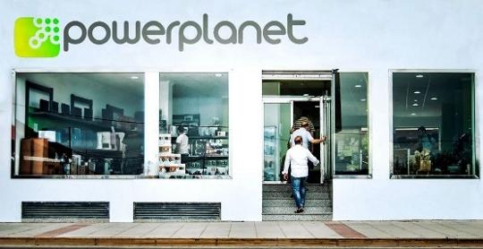Fachada de tienda de PowerPlanet